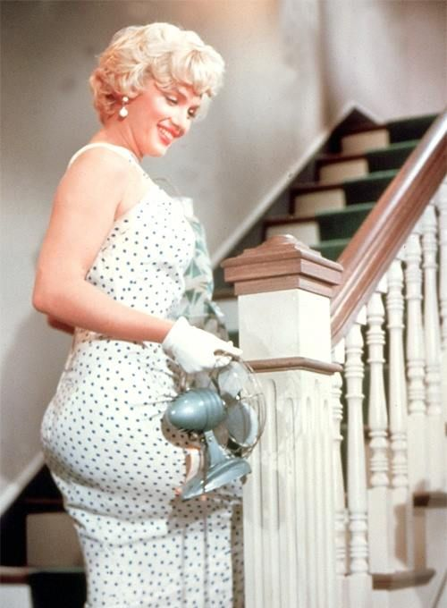 "Marilyn Monroe. 1955. Set Of Film ""THE SEVEN YEAR ITCH."""