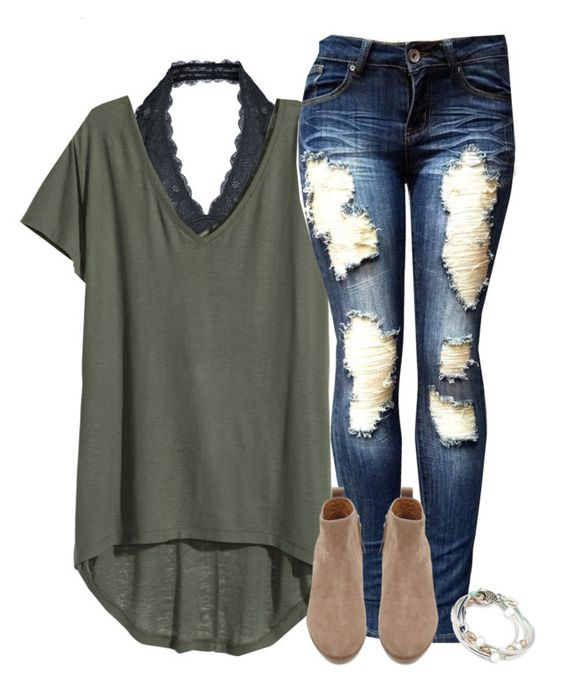 """Teen Fashion"" by wrigley67 ❤ liked on Polyvore featuring Free People, H&M, Witchery and Lizzy James:"