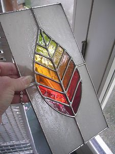 Autumn-Leaf-Gorgeous-New-Stained-Glass-Panel-Chain-pewtermoonsilver