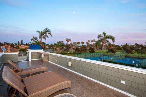 Beautiful rooftop deck with views of the Coronado Municipal Golf Course.