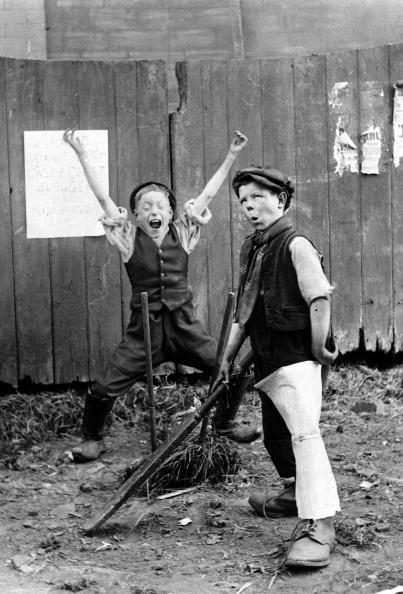 Sport Cricket London England Circa 1910 Young Street Boys