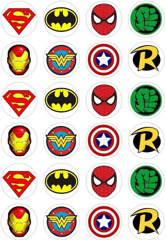 Marvel Comic Cake Toppers