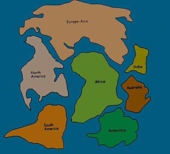 Map Of Pangaea Cut Out Furthermore 7 Continents Cut Outs ...