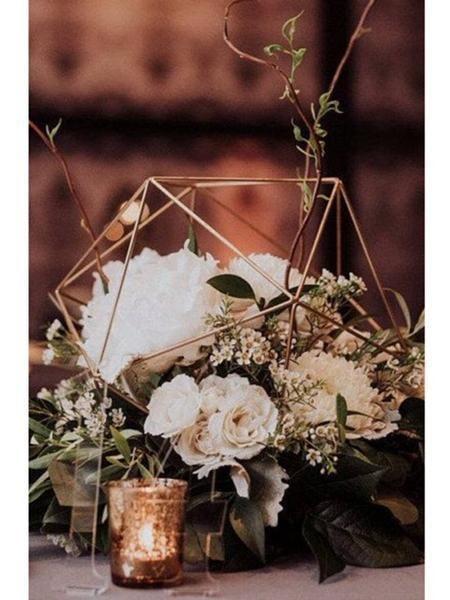 Geometric 10 Planter Hexagon Ball Terrarium Frame Gold No Glass Wedding Table Centres Wedding Table Wedding Table Centerpieces