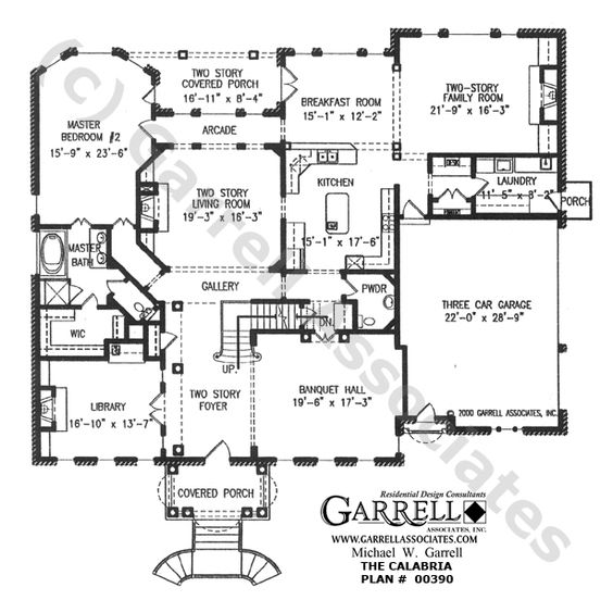 house plan 9 Calabria House Plan 00390 1st Floor Plan
