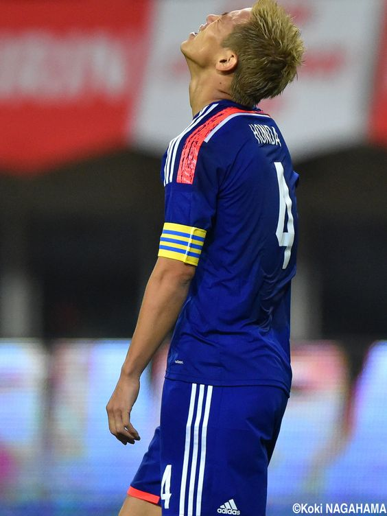 Keisuke Honda - MF - #4 (Captain) KIRIN CHALLENGE CUP Japan vs. Jamaica at DENKA BIG SWAN STADIUM 2014-10-10
