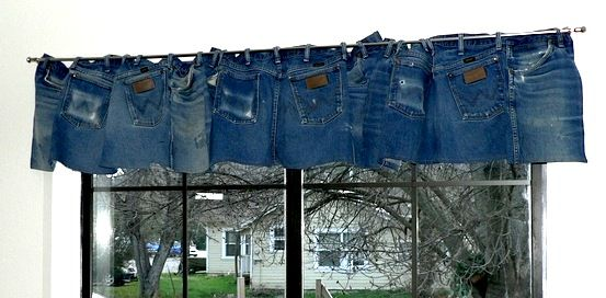 Blue Jeans Valance For Teenager Room Ideas Recycle It