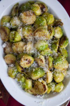 Parmesan brussel sprouts