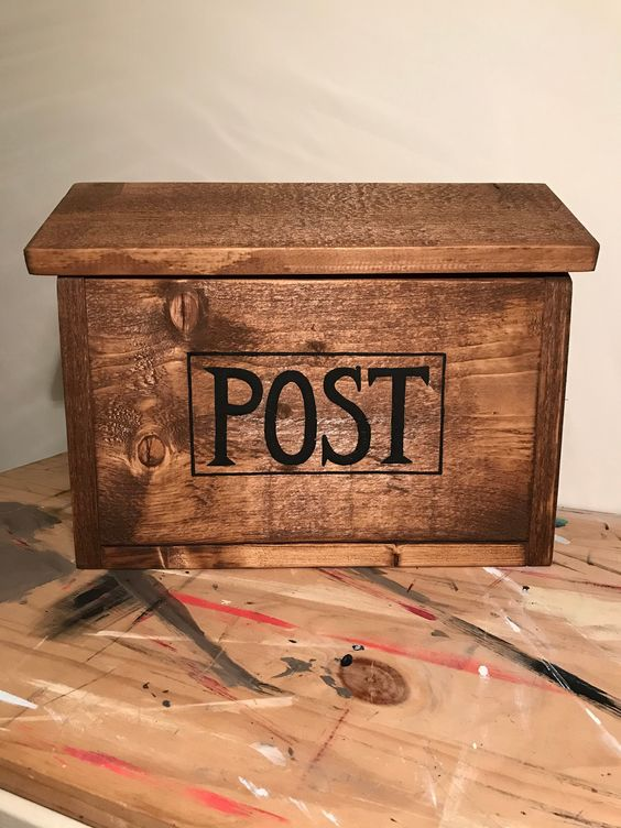 Hanging Mail Box Wall Mounted Mail Box Post Box Hanging Etsy In 2020 Wooden Mailbox Post Box House Warming Gifts