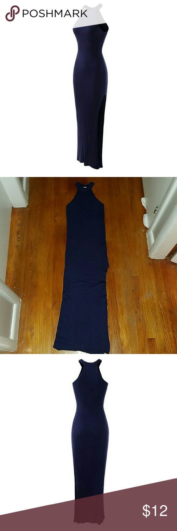 Women' Halter Dress Navy Blue Womens Halter Dress. Originally purchased on Amazon in April 2016. Like new, perfect condition. Worn Once. Navy blue. Dresses