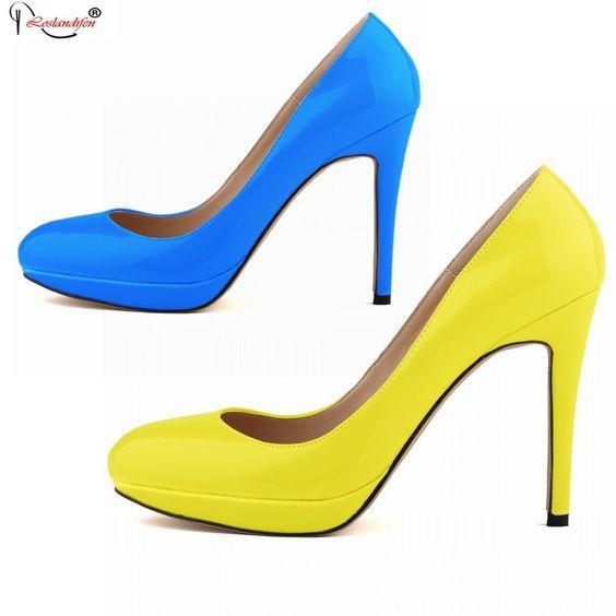 $15.67 (Buy here: https://alitems.com/g/1e8d114494ebda23ff8b16525dc3e8/?i=5&ulp=https%3A%2F%2Fwww.aliexpress.com%2Fitem%2FSMYNLK-10004M-Women-Fashion-Shoes-Women-2015%2F32564959791.html ) Women Fashion Shoes Womens 2015 Women's Sexy High Heels Pumps Party Basic Shoes Green Blue Black White Yellow for just $15.67