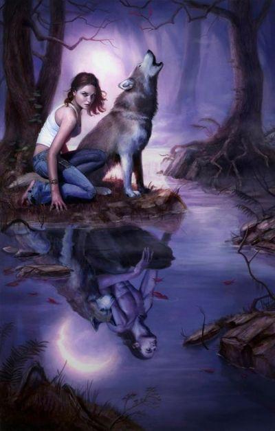 Wolf fantasy art adult