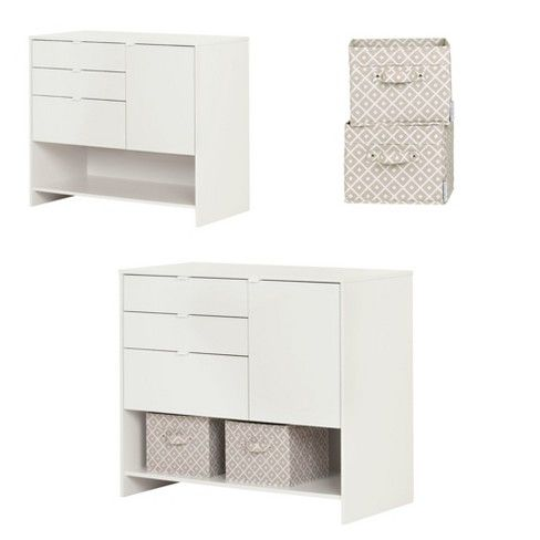 Crea Craft Storage Cabinet With Drawers Pure White South Shore