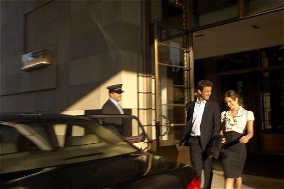 Couple Arriving at Hotel InterContinental Geneva  #geneva
