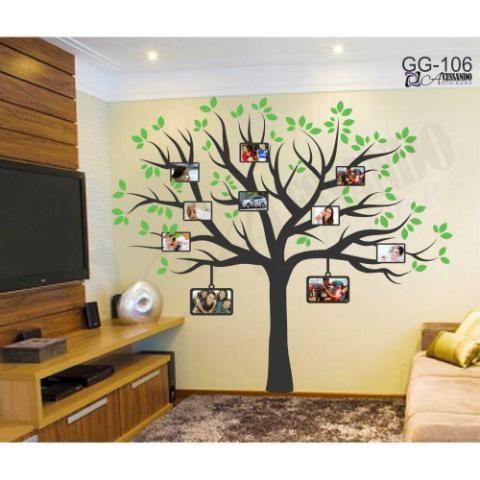 Adesivo Decorativo de Parede Arvore para Fotos - GG-106