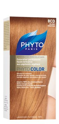 phytocolor coloration permanente tous cheveux nuance 8 cd blond venitien phyto - Coloration Phyto