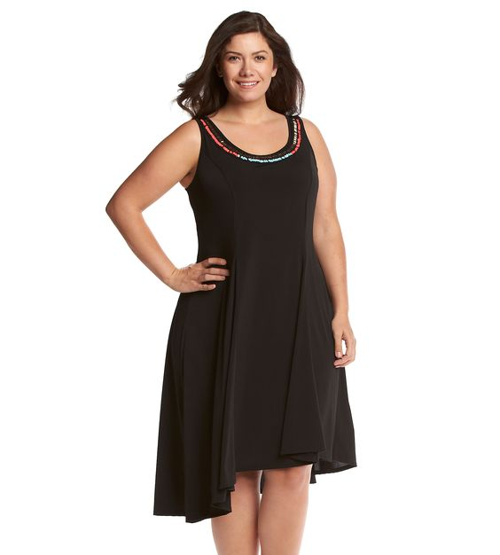 Notations® Plus Size Beaded High-Low Dress