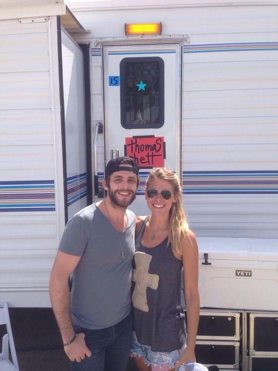 Thomas Rhett & wife, Lauren