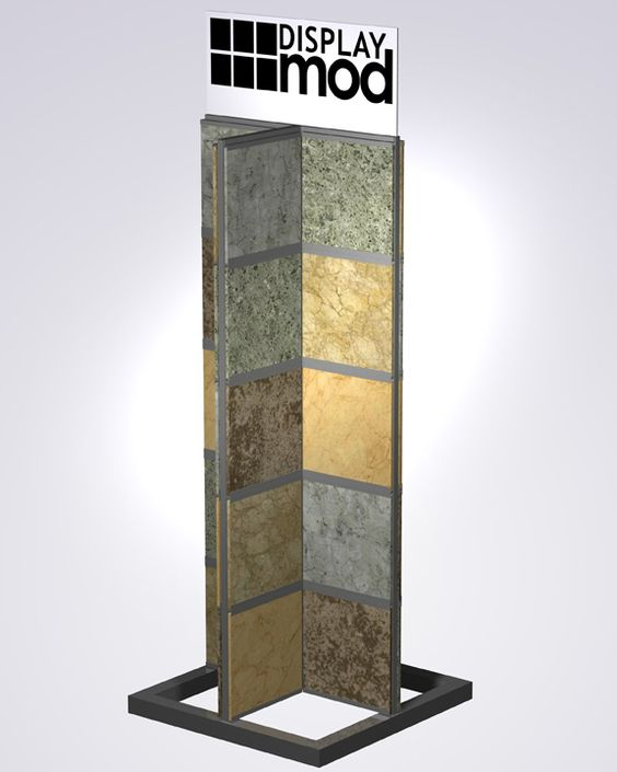 Free Standing Tile Display For Loose Tile Or Tile Sample