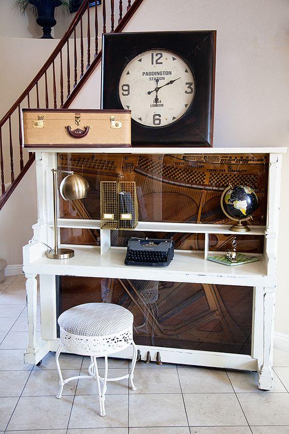 handmade savvy saturday - the handmade homethe handmade home piano turned into desk