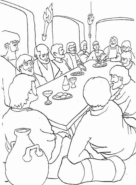 The Last Supper Coloring Page Fresh Last Supper Coloring Pages