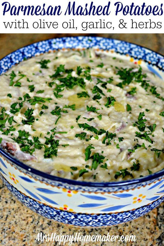 Parmesan mashed potatoes, Mashed potatoes and Olive oils on Pinterest