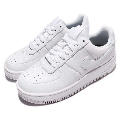 Wmns Nike AF1 Upstep White Black Air Force 1 Leather Women