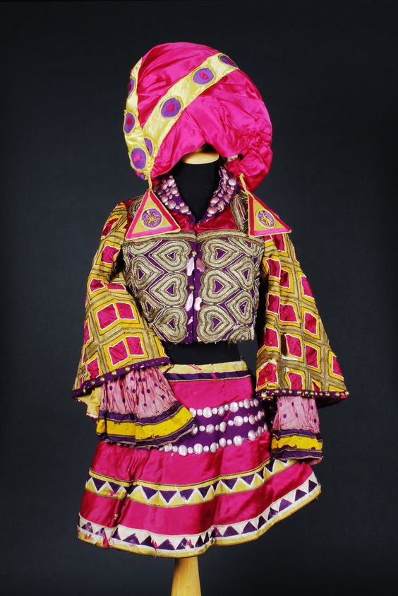 A costume from the Ballet Russes, designed by Leon Bakst  From the Ballet 'Le Dieu Bleu' performed for the first time by the Diaghilev Ballet at the Theatre du Chatelet in Paris, 1912
