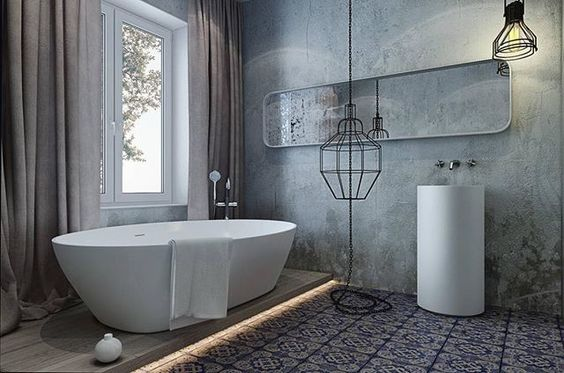 Design interior> #design #interior #bathroom #vintage #modern #tile #cement #light #lamp #diseño #interior #baño #moderno #hormigón #azulejo #luz #lampara #인테리어 #디자인 #화장실 #시멘트 #타일 #빈티지 #모던 #빛 #조명 #마드리드 #스페인