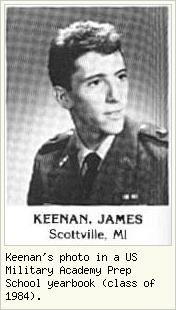 Keenan's photograph in a US Military Academy Prep
