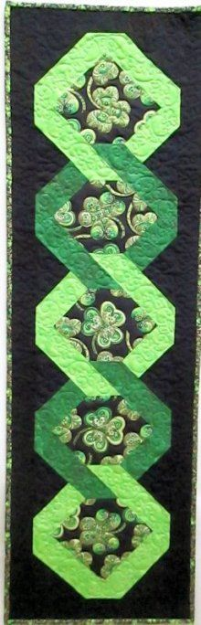 Shamrock Celebration Table Runner with a Twist Kit