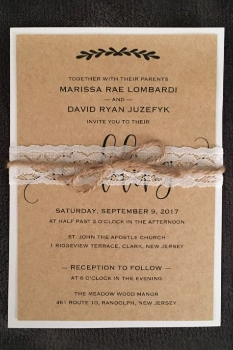 My Diy Story Rustic Straw Kraft Wedding Invitation Cards Pockets Design Idea Blog Kraft Wedding Invitations Wedding Invitations Wedding Invitations Rustic