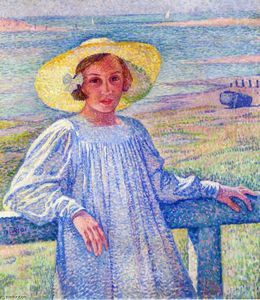 Theo Van Rysselberghe - Young Girl in a Straw Hat