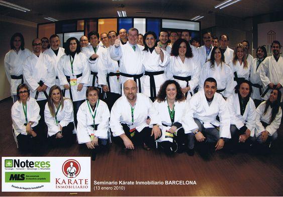 2010 Escuela Club Noteges Karate Samurai Inmobiliario Diploma Formacion Inmobiliaria AlejandroPI Alejandro Perez Irus Medico Formador Foto Grupo Alumnos