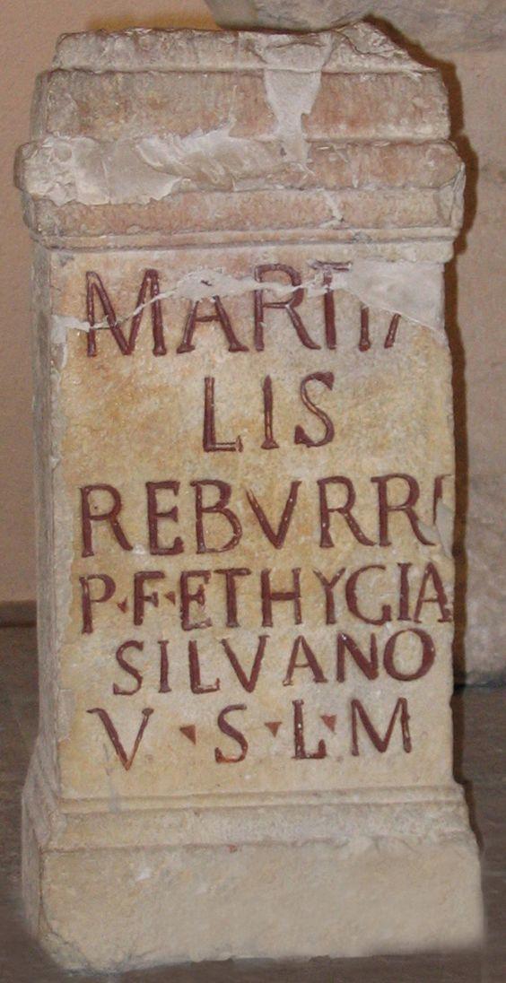 Ara votiva dedicada a Silvano, siglo I