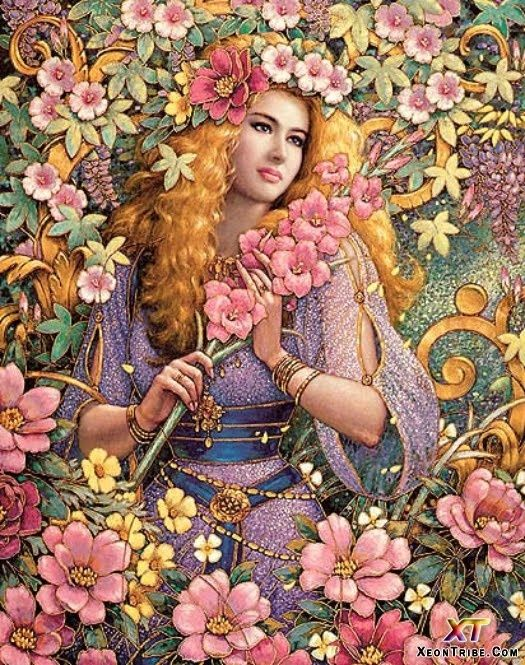 Flora roman myth goddess of flowers and the season of Goddess of nature greek