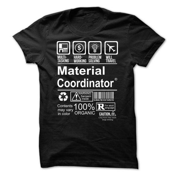 Hot Seller - MATERIAL COORDINATOR T Shirt, Hoodie, Sweatshirt