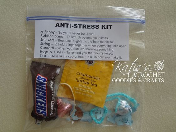 funny stress relief gifts katie 39 s crochet goodies crafts my mom survival kits and mom. Black Bedroom Furniture Sets. Home Design Ideas