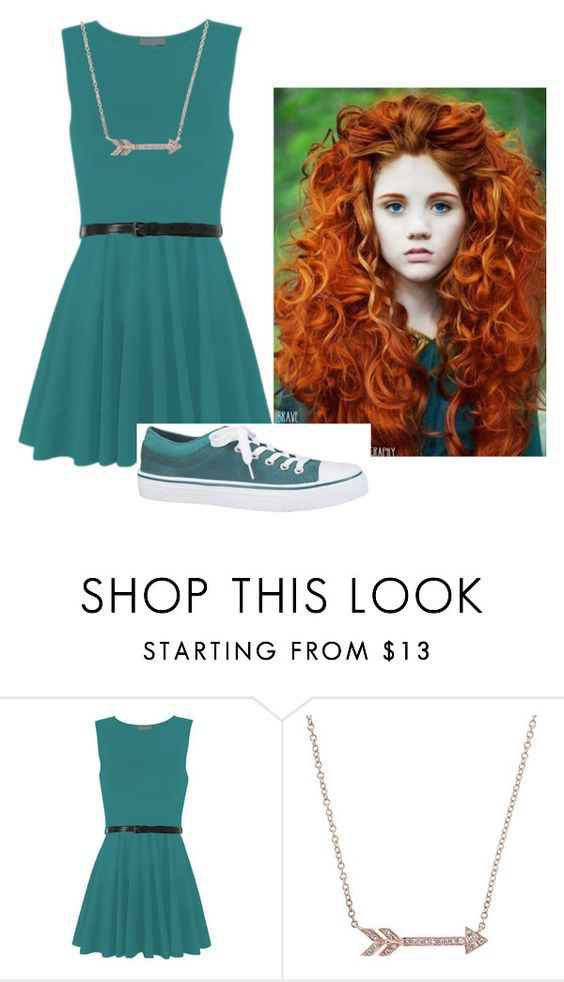 """""""Merida costume"""" by ashlync1234 ❤ liked on Polyvore featuring WearAll, Disney, maurices, women's clothing, women, female, woman, misses and juniors"""
