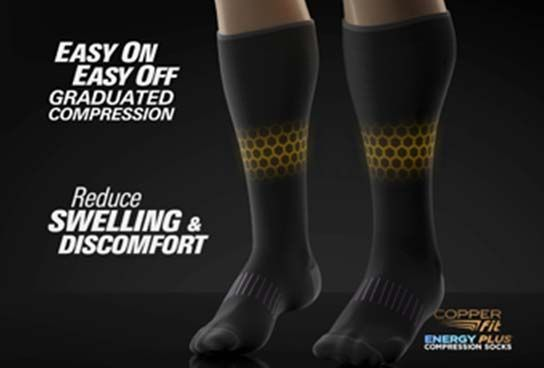 Copper Fit Energy Plus Socks - Hydrating Compression Socks | Copper fit, Compression socks, Compression socks mens