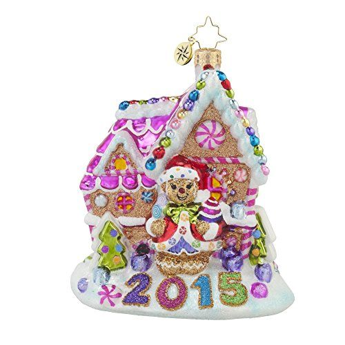 "Christopher Radko 2015 Gingerbread Candy Shack Glass Christmas Ornament - 5""h.. #Christmas #NewYear #Ornament #Decor #giftidea #Gift #gosstudio .★ We recommend Gift Shop: http://www.zazzle.com/vintagestylestudio ★"