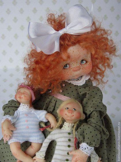 """Коллекционные куклы ручной работы. Ярмарка Мастеров - ручная работа. Купить """"Поппи"""". Handmade. Разноцветный, кукла, кукла с куклой"""