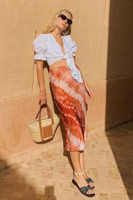 Lucy Williams - saia tie dye - tie dye - verão - street style