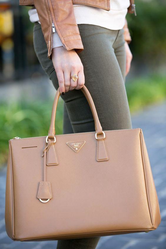 Back At It | Prada Saffiano Double Zip Tote | Camel Leather + Vince Skinny Jeans | Luci's Morsels :: LA Denim Blog