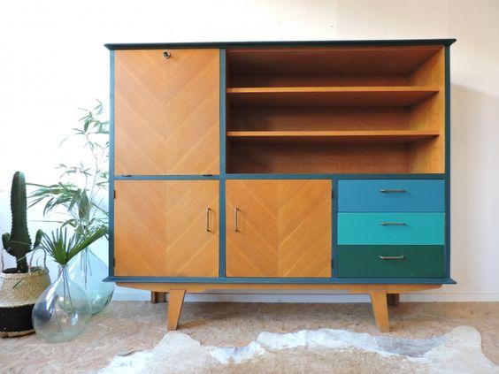 meuble bahut secr taire ann es 60 c te et vintage pinterest. Black Bedroom Furniture Sets. Home Design Ideas