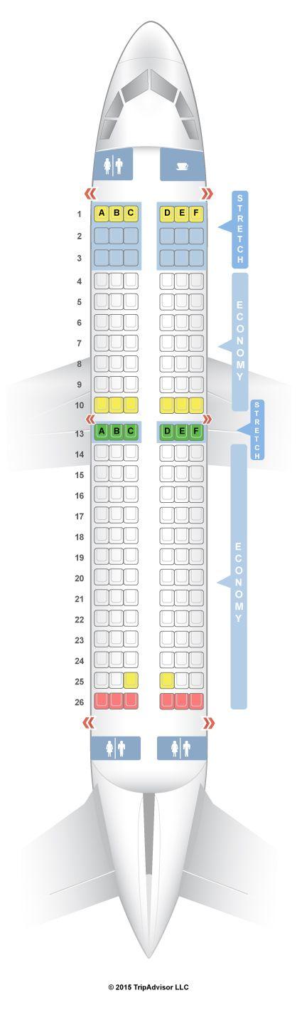 SeatGuru Seat Map Frontier Airbus A319 319 V1 TRAVEL