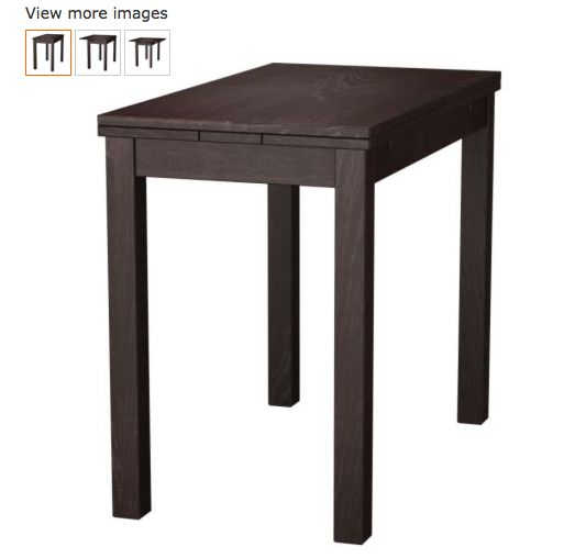 Extendable table bjursta brown children larger and products - Expandable dining table ikea ...