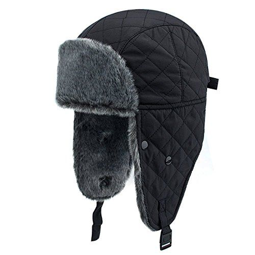 Dolida Unisex Outdoor Winter Trooper Trapper Hat Hunting Hat Ushanka Russian Hat With Ear Flap Chin Strap And Windproof Mask For F Trooper Hat Hats Hat For Man