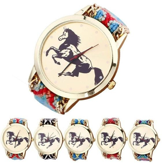 Fashion Women Ladies Geneva Quartz Watch Horse Rope Knitted Wrist Watches Gift #UnbrandedGeneric #CasualFashion
