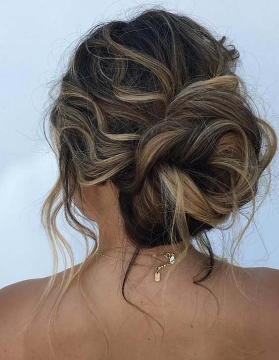 42 Pretty Undone Textured Updos To Create In 2018 Styleschannel Formal Hairstyles Updo Hair Styles Up Hairstyles